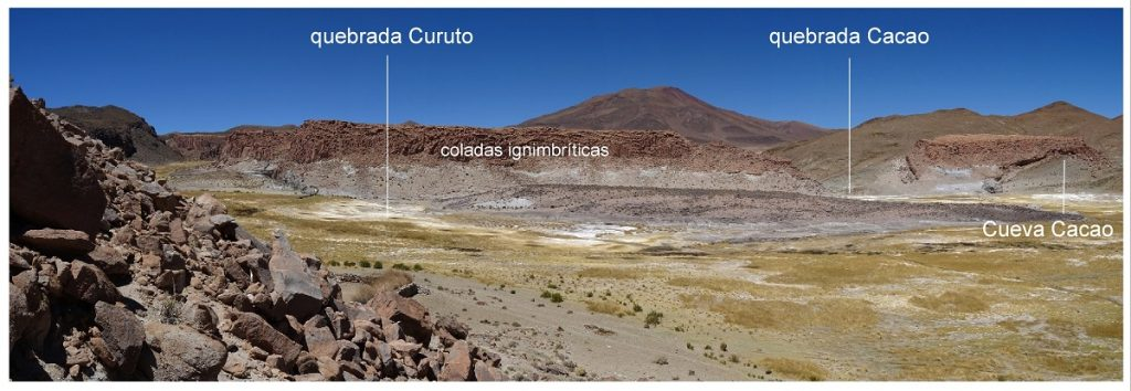 Vista general de la situación de Cueva Caco en las quebradas de Curuto y Cacao